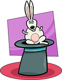 rabbit in hat cartoon illustration
