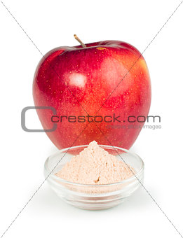 Apple and pectin powder