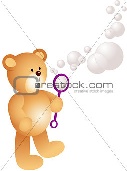 Teddy Bear Blowing Bubbles