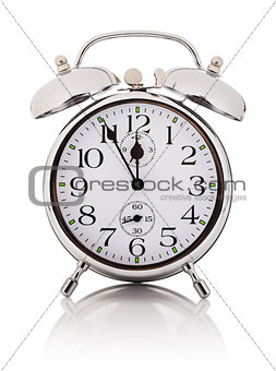 Alarm clock, isolated over white background