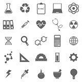 Science icons on white background