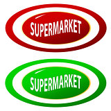 Supermarket icons set