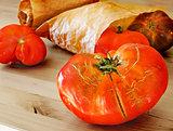 Organic mature tomatoes