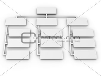 Abstract structure. 3d
