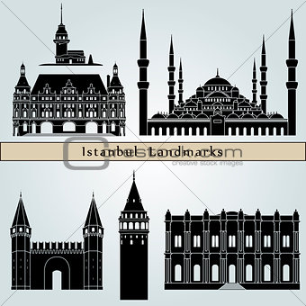 Istanbul landmarks and monuments