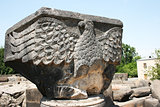 Eagle statue in Zvartnots Cathedral ruins