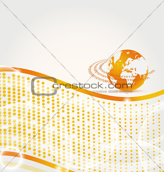 Abstract company card with Earth planet