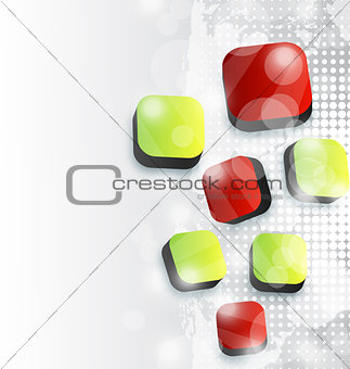 Abstract squares background for your advertise card
