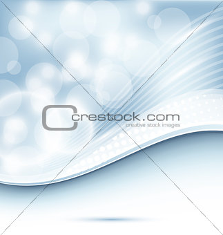Abstract wavy background for design business card