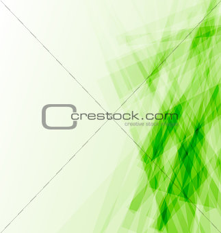 Green business card, abstract background