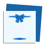 Christmas letter with gift bow