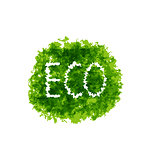 Eco friendly words on green grunge background