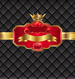 Vintage golden emblem with royal crown