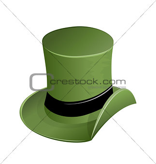Green hat in st Patricks Day