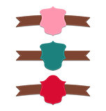 Collection set colorful labels, geometric emblems
