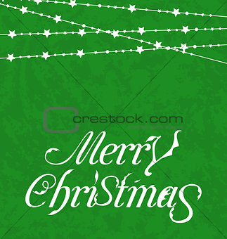 Christmas card, Merry Christmas lettering