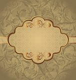 Vintage greeting card, seamless floral texture