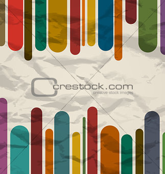 Old striped template, colorful vintage background