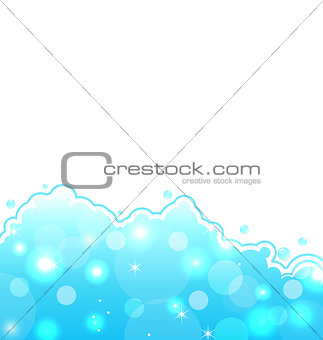 Abstract water card, sea wallpaper