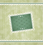 Christmas vintage frame, ornamental design elements