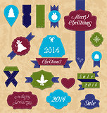Christmas set variation labels and ribbons