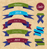 Christmas collection variation labels and ribbons