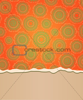 Abstract Riped Card with Place for Text