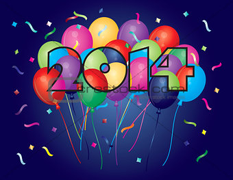 2014 Happy New Year Balloons