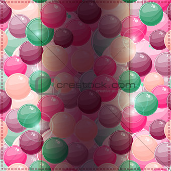 Card on Bubble Pattern with Dark Vertical Place for Text
