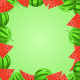 Watermelon Cartoon Frame