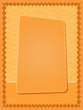 Bright Orange Card