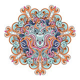 Colorful arabesque ornament for your design