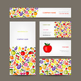 Business cards design, fruit background