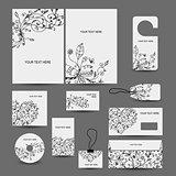Corporate business style design: folder, labels, cards, envelope, cd cover