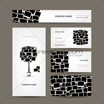 Business cards design, photo frames