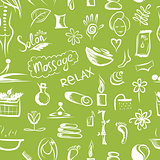 Massage and spa concept, seamless pattern for your design
