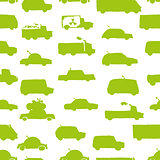 Toy cars collection, seamless pattern for your design