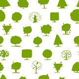 Seamless pattern, doodle trees for your design