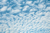 White high heaped clouds background