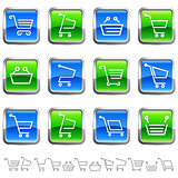 shopping cart buttons and icons