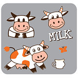 image of a cheerful spotty cow