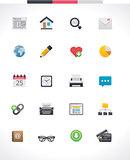 Vector web page icon set