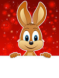 easter bunny and red background