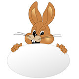 easter bunny with white egg