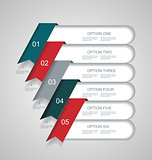 Vector  steps lines, progress banners with colorful tags.