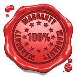 Warranty 100 Percent - Stamp on Red Wax Seal.