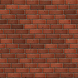 Dark Red Brick Wall. Seamless Tileable Texture.