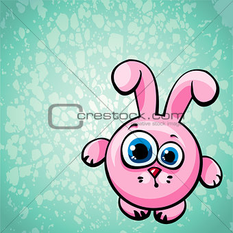 Cartoon pink bunny.