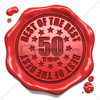 Top 50 in Charts - Stamp on Red Wax Seal.