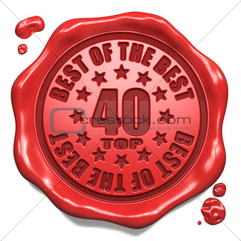 Top 40 in Charts - Stamp on Red Wax Seal.